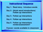 instructional sequence