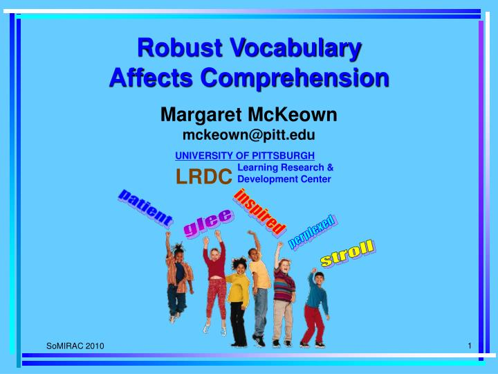 robust vocabulary affects comprehension n.