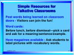 simple resources for talkative classrooms