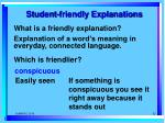 student friendly explanations