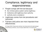 compliance legitimacy and responsiveness