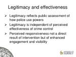 legitimacy and effectiveness