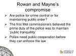 rowan and mayne s compromise