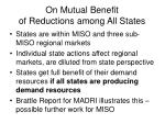on mutual benefit of reductions among all states