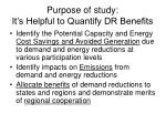 purpose of study it s helpful to quantify dr benefits
