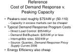 reference cost of demand response v peaking capacity