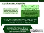 significance of hospitality