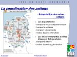 la coordination des actions
