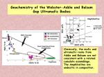 geochemistry of the webster addie and balsam gap ultramafic bodies