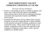 mine improvement and new emergency response act of 20064