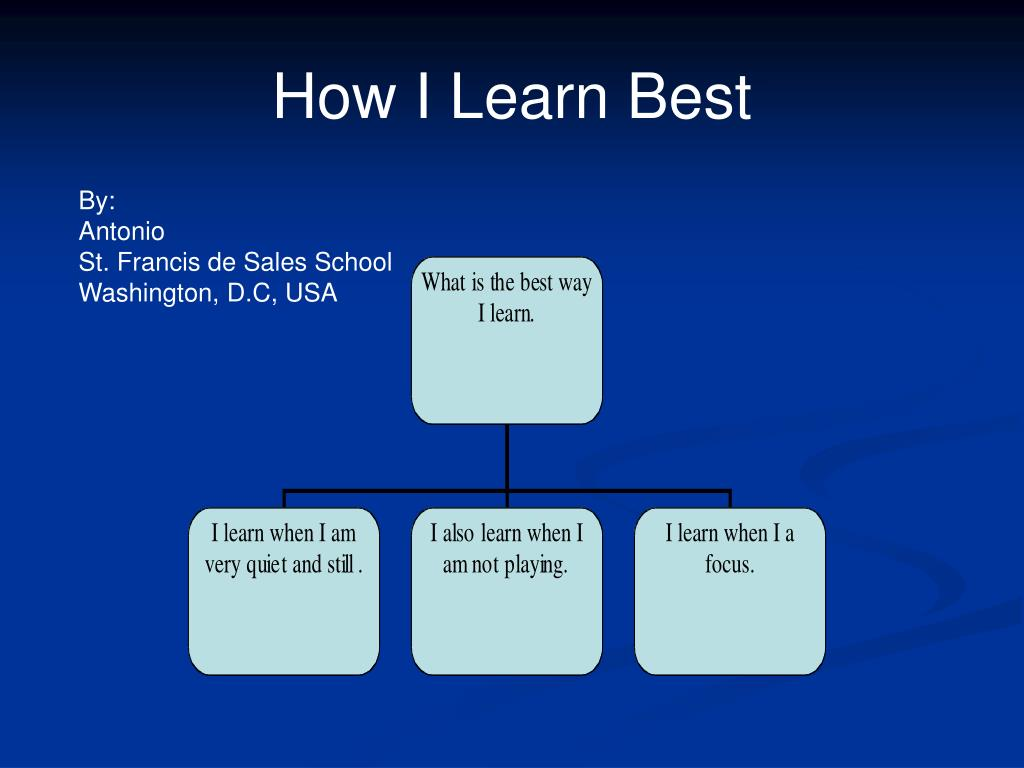 How I Learn Best