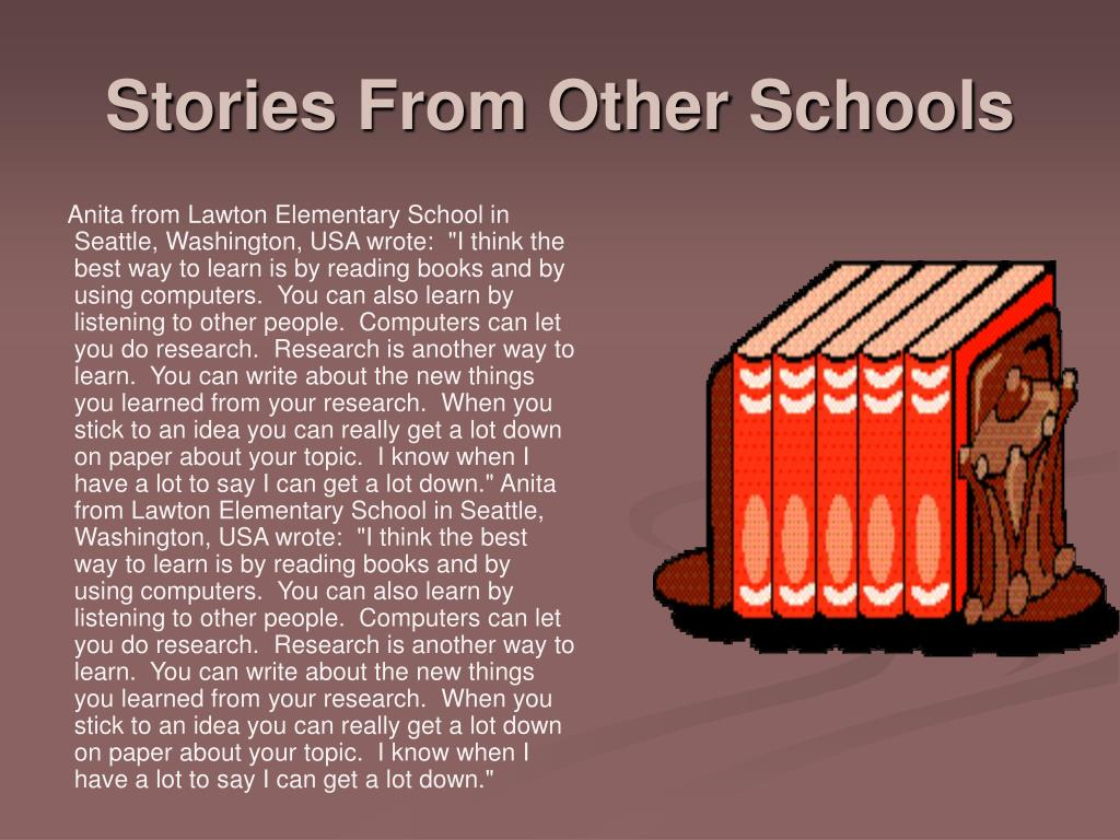 Stories From Other Schools