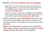 people s 2 nd year retention rates evaluation