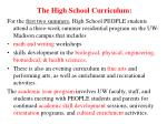 the high school curriculum