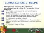 communications et m dias