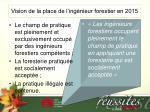vision de la place de l ing nieur forestier en 2015