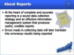 about reports