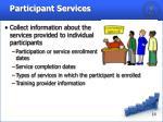 participant services