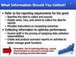 what information should you collect