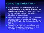 agency application cont d1