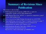 summary of revisions since publication