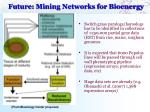 future mining networks for bioenergy