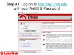 step 1 log on to http my unm edu with your netid password