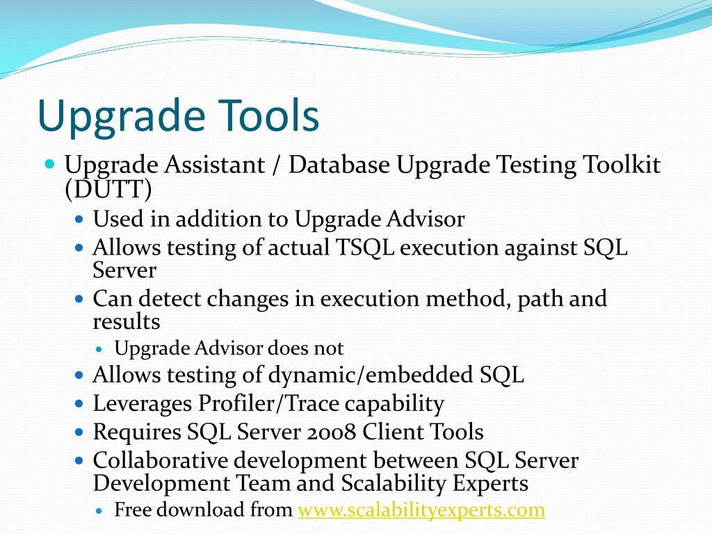 Upgrade Tools