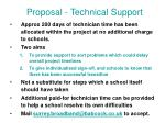 proposal technical support