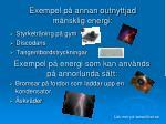 exempel p annan outnyttjad m nsklig energi