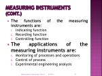 measuring instruments cont