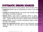 systematic errors sources