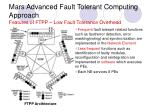 mars advanced fault tolerant computing approach features of ftpp low fault tolerance overhead
