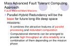 mars advanced fault tolerant computing approach future manned mars missions