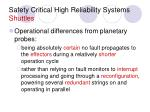 safety critical high reliability systems shuttles