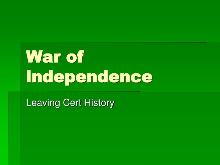 war of independence n.