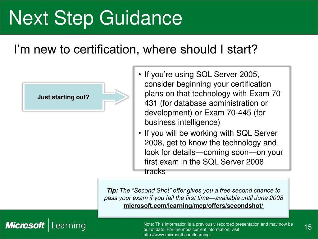 Next Step Guidance