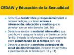 cedaw y educaci n de la sexualidad