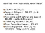 requested fy08 additions to administration1