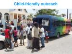 child friendly outreach