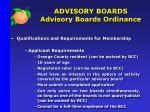 advisory boards advisory boards ordinance