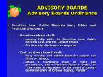 advisory boards advisory boards ordinance3