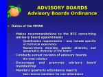 advisory boards advisory boards ordinance5