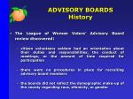 advisory boards history1