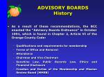 advisory boards history3