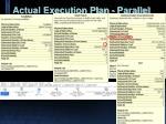 actual execution plan parallel