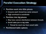 parallel execution strategy