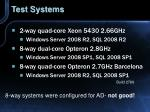 test systems46