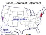 france areas of settlement