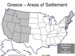 greece areas of settlement